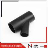 Het zwarte HDPE Materiële Plastic T-stuk van de Tak van de Drainage Y van de Montage van de Pijp