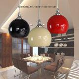 6 colores de vidrio para lámpara colgante de la luz de decoración de interiores
