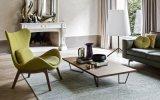 Cadeira de sala de estar estofada de tecido moderno