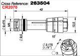Cerco exacto del eje de rotación 263504 del Sc 3263 de la máquina de recortar de Anderson