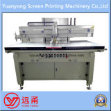 Una impresora semi automática de la pantalla de seda de la impresión de la escritura de la etiqueta del color