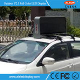 Signe imperméable à l'eau fixe extérieur d'Afficheur LED de dessus de taxi de HD P5