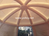 17m de diámetro transparente claro araña hinchable Carpa Domo