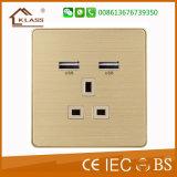 Reino Unido de boa qualidade da tomada USB eléctrico na parede