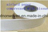 Nonwoven de poliéster de pasta de fluff Airlaid Paper