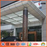 Panneau composé en aluminium en pierre de mur extérieur d'Ideabond PVDF Exture