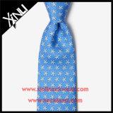 Laço animal da garganta da cópia 100% de seda Handmade para homens