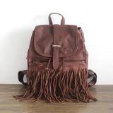 Retro Top Workmanship Backpack Mulher Bolsas de viagem Tassel Emg4879