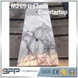 浴室の受付係のベンチのためのM289氷ったヒスイの紫色の大理石のカウンタートップ