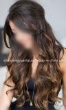 Derecho/clips ondulados/del enrollamiento del estilo en la extensión del pelo humano hecha del pelo de la Virgen
