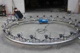 둥근 자전 음악 샘 장식적인 정원 샘