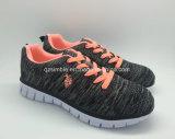 Ботинки горячего спорта Flyknit тавра материального идущие для женщин людей