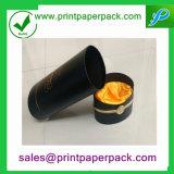Caja de vino de lujo en tubo redondo de la caja de té Caja de papel de embalaje Caja de regalo