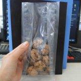 Sac Gusseted latéral transparent fait sur commande d'empaquetage en plastique de noix
