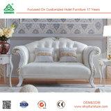 Hölzerner Fabrik-Entwurfs-modernes weißes Leder-Sofa