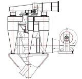 시멘트 생산 공장 (NHXA-600)를 위한 극상 공기 비밀분류자