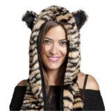 Зима женщин имитирует животный шлем ткани шарфа шерсти Faux Softextile