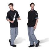 El mejor uniforme del cocinero del algodón de la cocina del diseño de la manera de la calidad