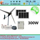 Gerador de vento híbrido 300W para uso doméstico