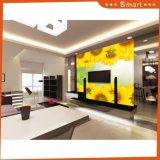 Pintura al óleo amarilla del papel de la foto del girasol para la sala de estar