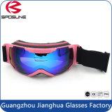 La mode polarisée par marque protégée UV de 100% folâtre des lunettes de Snowboard