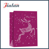 Bolso del regalo del papel de las compras del embalaje del regalo de la Navidad de la promoción del precio de fábrica