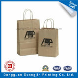 Brown Kraft Paper Bag Panier avec du papier Twisted Handle
