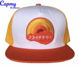 Imprimir Borda Snapback Cap Hat com tampa de logotipo Bordado 3D