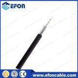 Cable óptico de la fibra plana de FTTH 12/24core con el miembro de fuerza de FRP