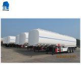 42000 litros del depósito de combustible de acero al carbono semi remolque con tres ejes