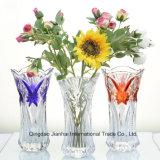 Florero rural del vidrio cristalino del estilo del hogar simple para el Cenar-Vector