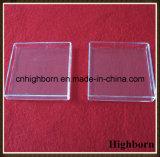 Transparente quadratische Silikon-Quarz-Glas-Petrischale für das Schmelzen