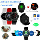 3G/WiFi pantalla redonda Reloj inteligente con Monitor de Ritmo Cardíaco DM368