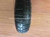 Gomma di gomma della rotella del carrello caldo di vendita 3.00-4, gomma della carriola con l'orlo d'acciaio