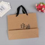Haute qualité sacs-cadeaux en papier brun avec l'impression