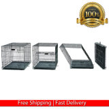 Metal de la jaula de perro caniche miniatura