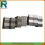 La hoja de sierra de diamante de mármol los segmentos de herramientas de corte