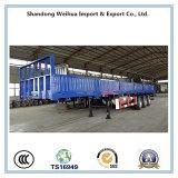 60t 12,4m de la pared lateral de carga plana semi remolque para las ventas