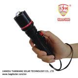 El pequeño choque eléctrico compacto atonta los armas con la linterna brillante del LED