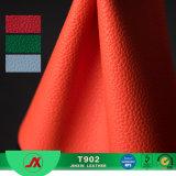 Cuero de cuero del PVC del modelo de Lichee de las materias textiles clásicas de la alta calidad