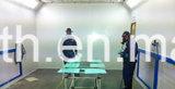 Spray-Stand des Kapitän-Car, anstreichender Raum mit CER