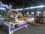 Corte y perforación CNC maquinaria con la tabla de adsorción de vacío para trabajar la madera