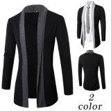 Camisola feita malha do casaco de lã dos homens novos do projeto