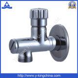 Válvula de ângulo de latão com pega de plástico para Válvula Watert (YD-5034)