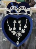 Brautkronen-Halsketten-Ohrring-Zubehör