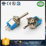 Sobre a Spdt 3P 6A 125VAC Sub-Miniature interruptor de báscula