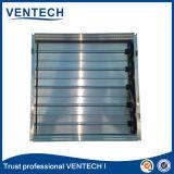 Damper de ar de lâminas opostas para uso de ventilação
