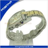Vigilanza personalizzata di Mutifunction per gli uomini con la fascia dell'acciaio inossidabile