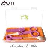 FDA Certified Portable Baby Scissors com conjunto de colher