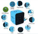 Todos en un adaptador universal de la potencia del cargador del recorrido del USB del adaptador del recorrido del mundo de la Multi-Nación